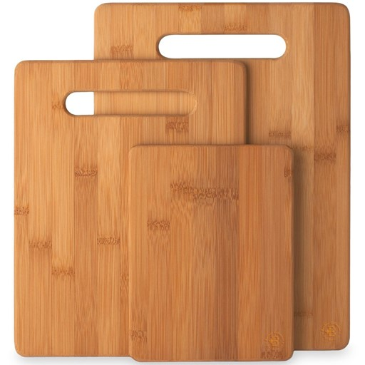 Natural Bamboo Cutting Board Set of 3 Kitchen Chopping Boards Wooden Cutting Boards for Serving Food