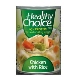 6 Pk Healthy Choice Soup ~ Chicken Noodle, 15 OZ ~*+ FAST FREE SHIPPING ! +*~