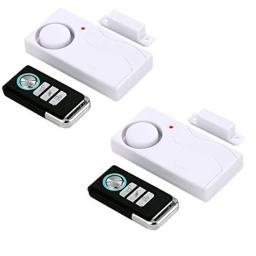 HENDUN Wireless Remote Door Alarm Windows Open AlarmsMagnetic Security Sensor Pool Door Alarm for Kids Safety Preventing Alzheimer ElopementApartment Alarm (2 Pack)