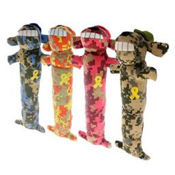 """Multipet Loofa Dog Support Our Troops 12"""" Plush Dog Toy"""