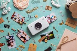 Kodak Mini Shot Instant Print Digital Camera with LCD Display, Compatible w/iOS and Android - White
