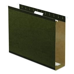 "Pendaflex 04152X3 Extra Capacity Reinforced Hanging File Folders, 3"", Letter Size, Standard Green, 1/5 Cut, 25/BX (4152x3)"