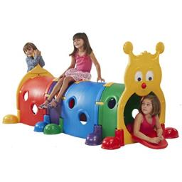 ECR4Kids GUS Climb-N-Crawl Caterpillar Indoor/Outdoor Fun Play Structure for Kids, Primary