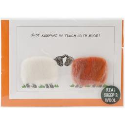 Coats Crochet Hand Made Sheep Cards, Just Keeping in Touch with Ewe