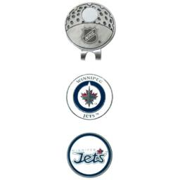 Team Golf NHL Winnipeg Jets Golf Cap Clip with 2 Removable Double-Sided Enamel Magnetic Ball Markers, Attaches Easily to Hats