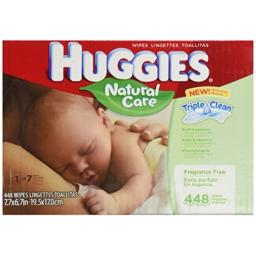 Huggies Natural Care Unscented Baby Wipes Refill - 448ct