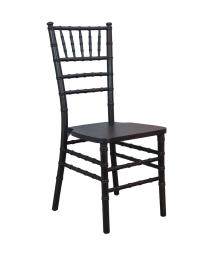 Offex Contemporary Stackable Traditional Coffee Wood Chiavari Chair