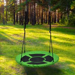 Children's saucer Swing Playground Platform Swing Nylon Rope detachable 1M/40inch Diameter