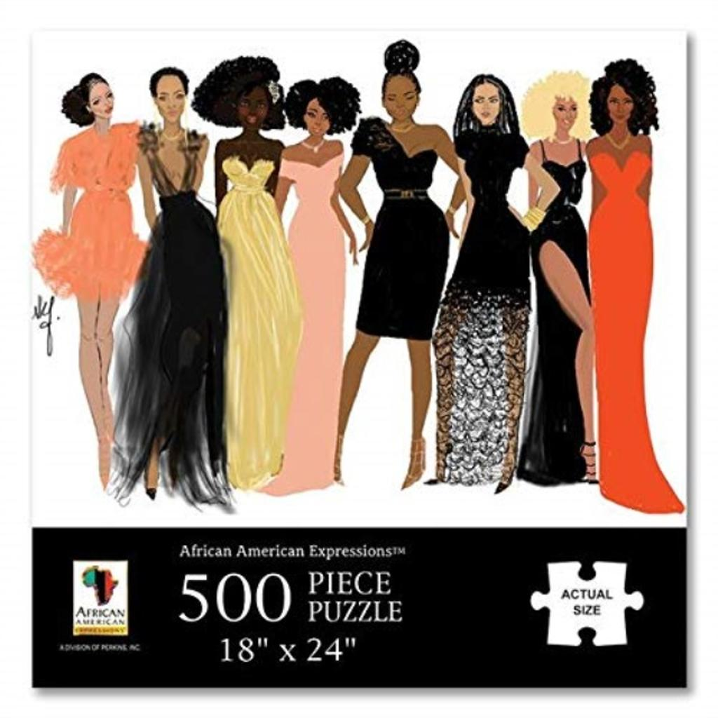 """African American Expressions - Sister Friends Puzzle (500 Pieces, 24"""" x 18"""") PUZ-13"""