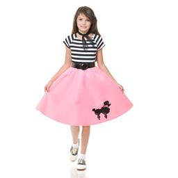 Charades Child's Poodle Skirt, Pink, X-Large
