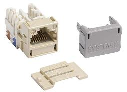 Systimax MGS400-246 GigaSPEEDÂ XL MGS400 Series Category 6 U/UTP Information Outlet, Ivory