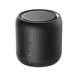 Anker SoundCore Super-Portable Rechargeable Bluetooth Wireless Speaker with 15-Hour Playtime, 66-Foot Range, Enhanced Bass and Noise-Cancelling Microphone, Black