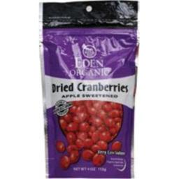 Eden Foods Organic Dried Cranberries Sweetened with Apple Juice -- 4 oz