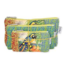 Guy Harvey 3 in 1 Cosmetic Bag Set (Parrot Palace)