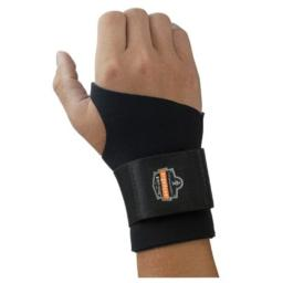 """Ergodyne X-Large Black ProFlex 670 Neoprene Ambidextrous Single Strap Wrist Support With Reversible Hook And Loop Closure And 2"""" Woven Elastic Straps"""