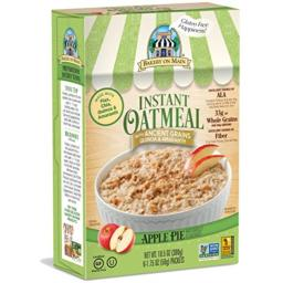 Bakery on Main Gluten Free Non-GMO Instant Oatmeal, Apple Pie, 10.5 Ounce Box