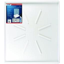 "Camco Front-Load Washing Machine Drain Pan, Protects Your Floor from Washing Machine Leaks, OD 30.5"" x 34.5"" x 1.64"" (20786), White"