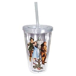 Spoontiques Wizard of Oz Cup with Straw, Clear