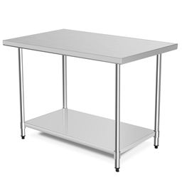"""30 x 48"""" Stainless Steel Commercial Kitchen Food Prep Table"""""""