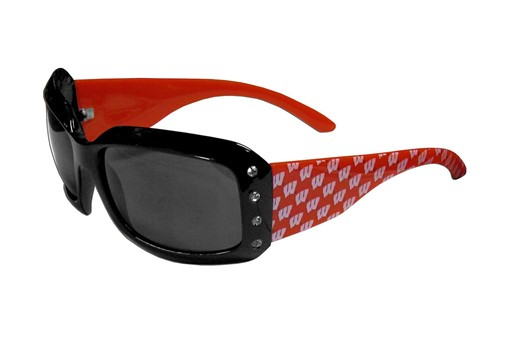 Sports Team Logo Wisconsin Badgers NCAA Women's Designer Bling Sunglasses