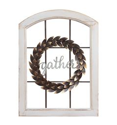 Stratton Home Decor Decorative Window & Wreath Wall Decor