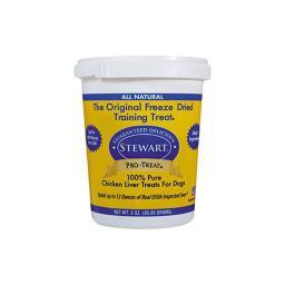 Miracle Corp 401704 Miracle Corp Stewart Pro-Treat Freeze Dried Chicken Liver 3 Oz.