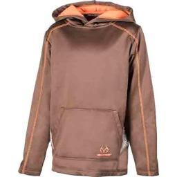 REALTREE A000001420103 REALTREE YOUTH'S HOODIE MEDIUM POTTING SOIL W/LOGO< A000001420103