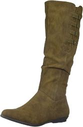 CLIFFS BY WHITE MOUNTAIN Women's Fordham Knee High Boot, Brown, 6.5 Medium US