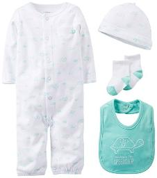 Carter's Baby Boys' 4 Piece Layette Set (Baby) - White - 9 Months