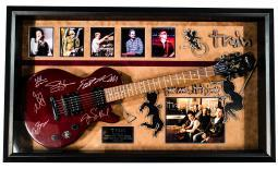 Train Band - For Me It's You - Signed Guitar in Custom Framed Case