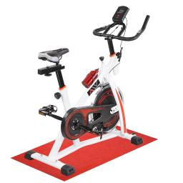 AW Fitness Gym Exercise Bike Bicycle Cycle Trainer Cardio Workout Indoor Home White
