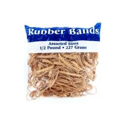 Bulk Buys OR103-24 1/2 Pound Bag Full of Rubber Bands - Pack of 24