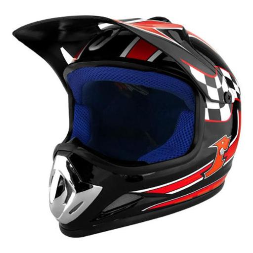 Off Road Motocross Motorcycle Helmet - Black & Red UVUWJLJASPAWO9VL