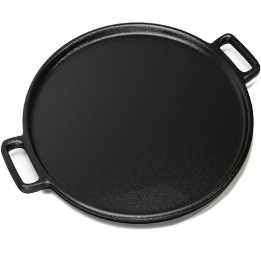 Home-Complete M030332 14 in. Cast Iron Pizza Pan