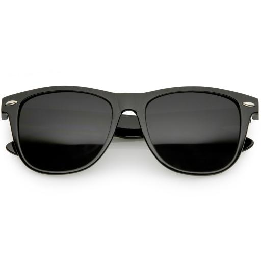 cc022056b Classic Horn Rimmed Sunglasses Wide Arms Super Dark Square Lens 54mm. by  sunglassLA