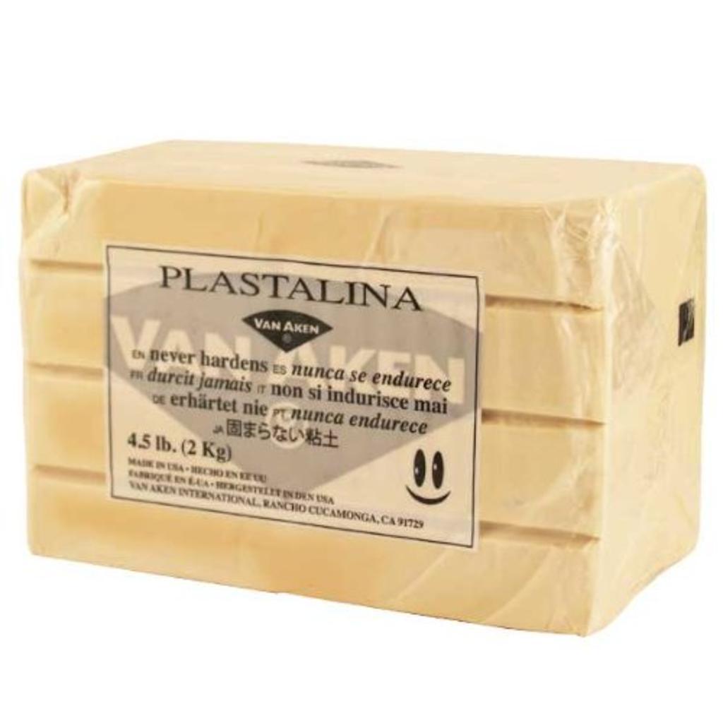 Plastalina Modeling Clay 4.5 lb Bar Sculptor Grey
