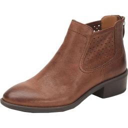 Comfortiva Womens Cadwin Leather Memory Foam Ankle Boots