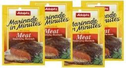 Adolph's Marinade in Minutes Meat Tenderizing Marinade 4 Packet Pack