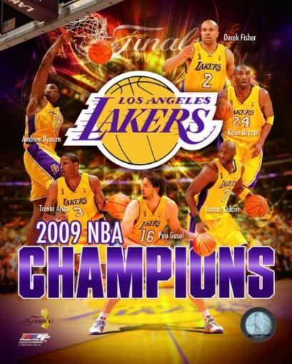 2008-09 Los Angeles Lakers NBA Finals Champions Composite Photo Print