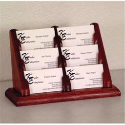Wooden Mallet BCC2-6MH 6 Pocket Countertop Business Card Holder in Mahogany