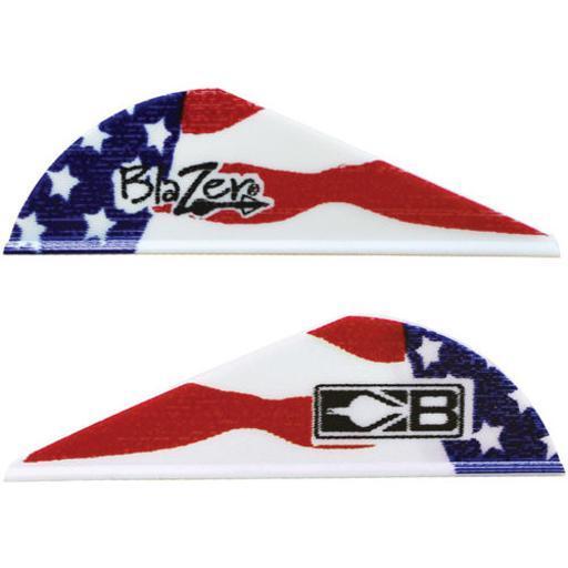Bohning 10832af2 bohning blazer vanes true color 2 american flag 100pk