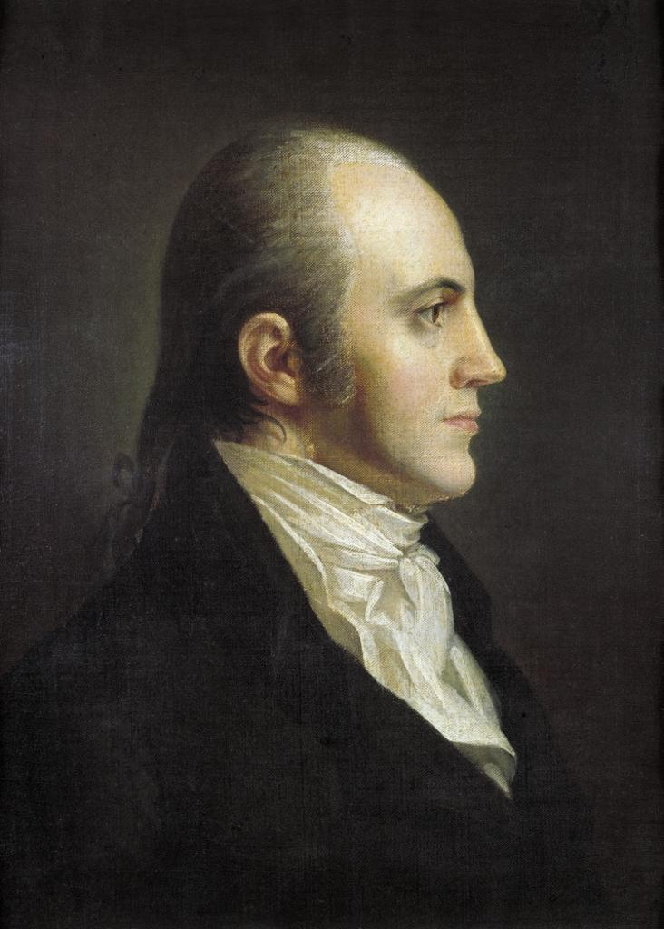 Aaron Burr (1756-1836). /Namerican Political Leader. Oil Painting By John Vanderlyn, Early 19Th Century. Poster Print by Granger Collection