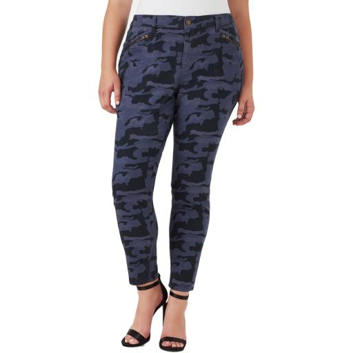 William Rast Womens Plus Jane Camo Skinny Cargo Pants