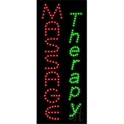 Sign Store L100-1025 Massage Therapy Animated LED Sign, 11 x 27 x 1 In.