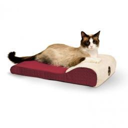 K&H Pet Products 7407 Red K&H Pet Products Ultra Memory Chaise Pet Lounger Red 14 X 22 X 4