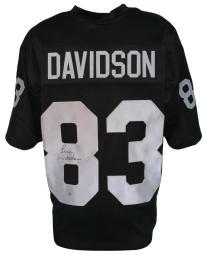 Ben Davidson Signed Custom Black Pro-Style Football Jersey SI