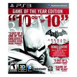 Batman:arkham city game of the year WAR 24070