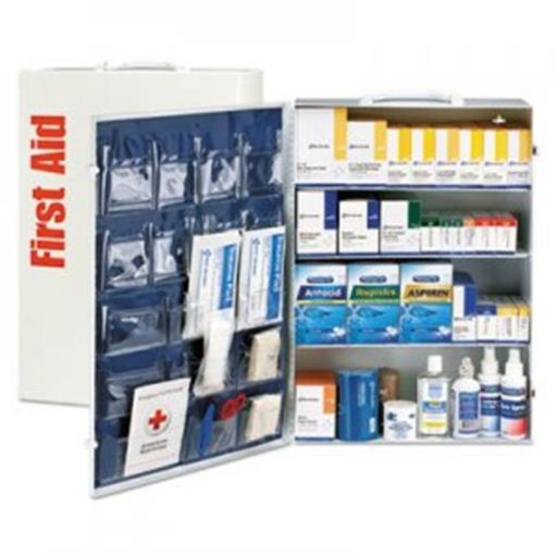 First Aid Only FAO90576 150 Person 4 Shelf Metal Cabinet, ANSI B Plus, Type I & II with Medication
