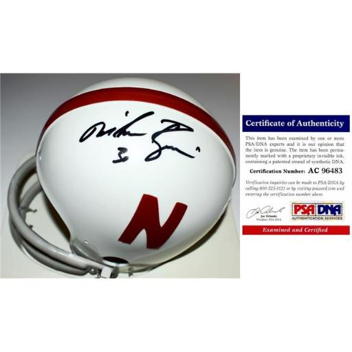 Real Deal Memorabilia MRozierMH-1-PSA Mike Rozier Signed - Autographed Nebraska Cornhuskers Throw Back Mini Helmet with 2 Bar Face Mask - No.1 PSA & D 6QYKHK2IQRGERX0S