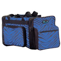 Pizzazz Performance Wear B200AP -ROY -L B200AP Zebra Print Multi-Sport Bag - Royal - Large